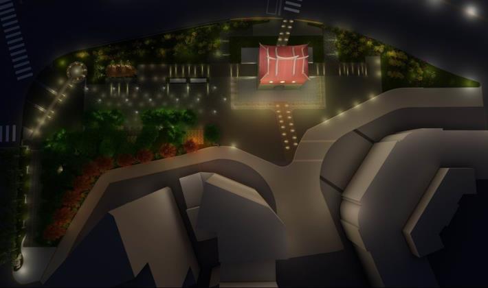 北門廣場夜間照明模擬圖[另開新視窗]