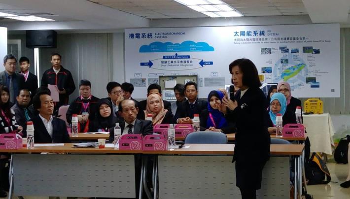 圖說:大同公司總經理林郭文艷與會分享智慧城市創新系統應用