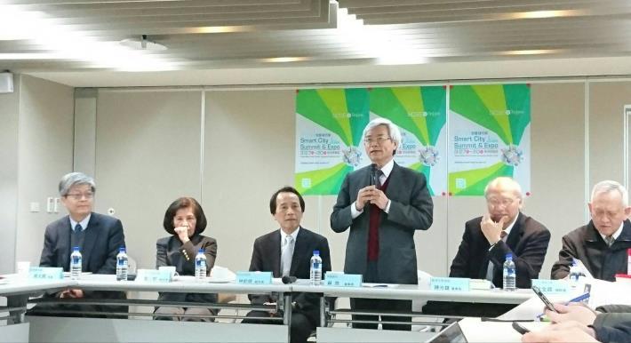 圖說:台灣智慧城市產業聯盟蘇亮會長與會分享[開啟新連結]