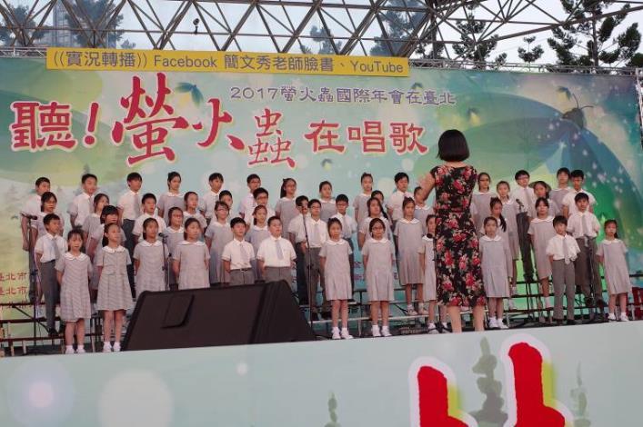 (圖6) 成功兒童合唱團純潔聲音,散播生態保育種子