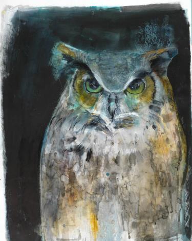 圖4. Russ Ronat作品凝視的貓頭鷹(Owl Looking)[開啟新連結]