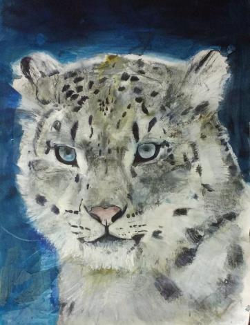 圖6. Russ Ronat作品 雪豹(Snow Leopard)