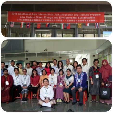 圖4._白教授開班教導來自東南亞各大學的師生環保課程。