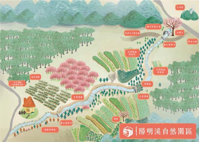 陽明溪自然園區地圖[開啟新連結]