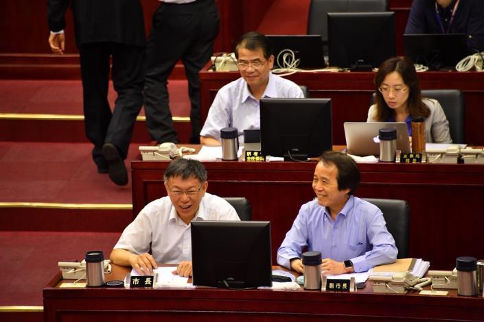 赴議會施政報告  柯文哲:社子島的問題很困難但是該做,所以會認真去做