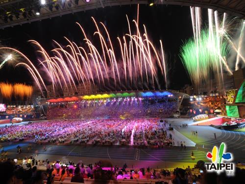 2009聽奧閉幕典禮煙火
