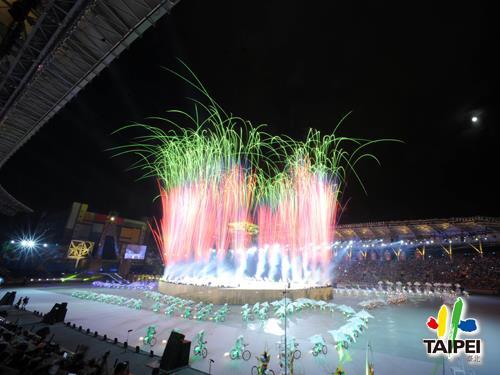 2009聽奧開幕典禮煙火