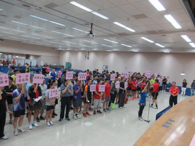 士林區公所選手江靜昀代表運動員宣誓