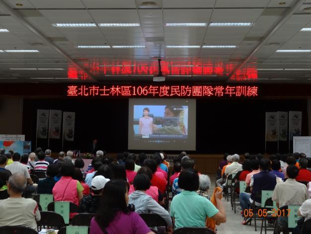 郭世清上校講授「民防相關法令、組訓作業及全民國防教育」。