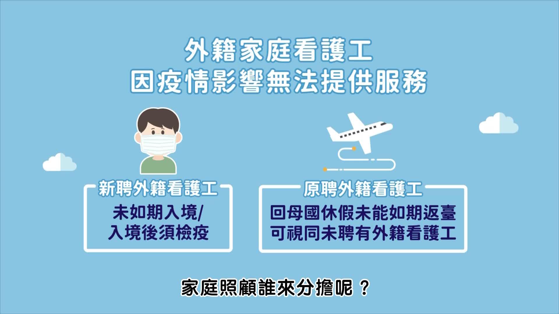 3.外籍家庭看護工因疫情影響無法提供服務