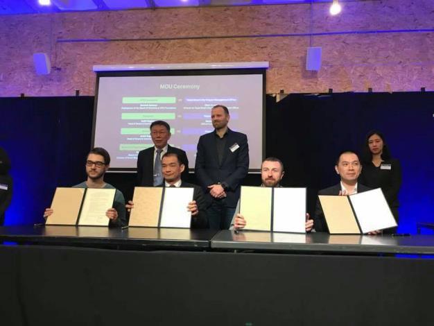 市長與Mr. Ruben Nieuwenhuis見證四場MOU簽署[另開新視窗]