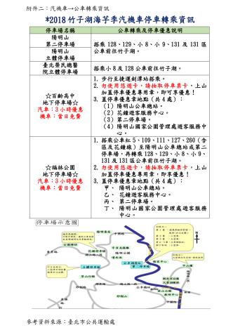附件二:汽機車→公車轉乘資訊[開啟新連結]