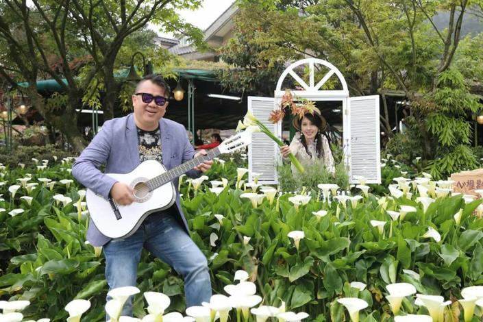 圖5、2018竹子湖海芋季幸福IG打卡點-「苗榜花園」。[開啟新連結]