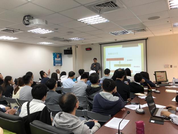 圖1、緯創軟體股份有限公司陳泰倫資深經理分享經驗心得。.JPG[另開新視窗]