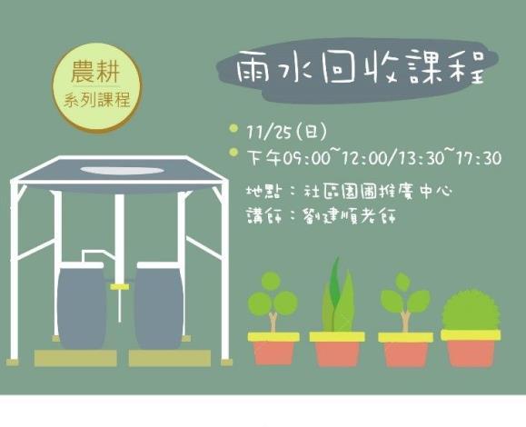 圖1、雨水回收建置課程海報[開啟新連結]