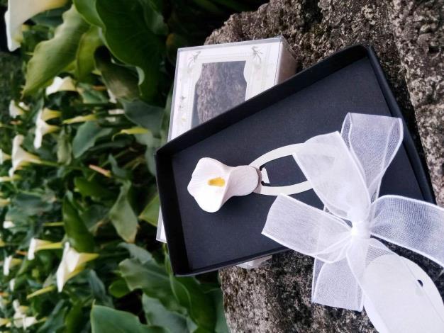 圖7.精美盒裝海芋造型書箋