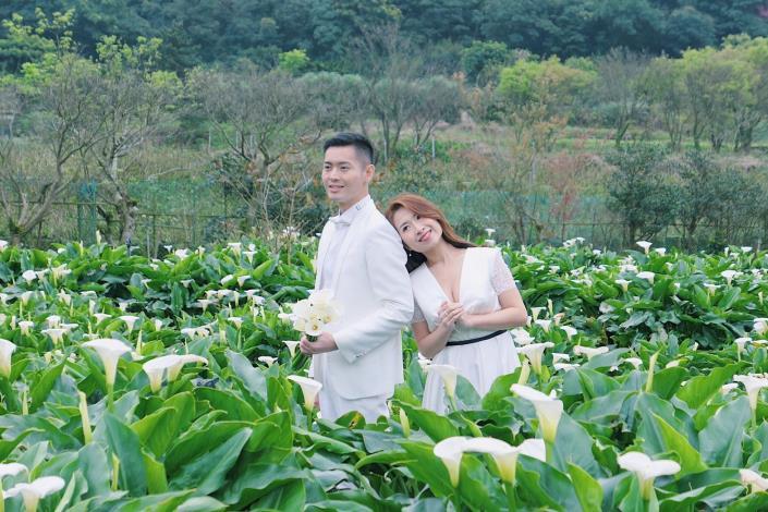 圖1.竹子湖海芋園適合於花季期間三月中到五月拍攝婚紗。[另開新視窗]