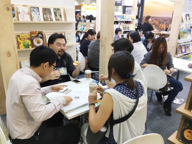 圖4、2019首爾國際書展臺灣館版權交易攤位