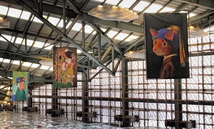 圖1、「貓.美術館–CAT ART世界名畫展」於花博流行館展出。