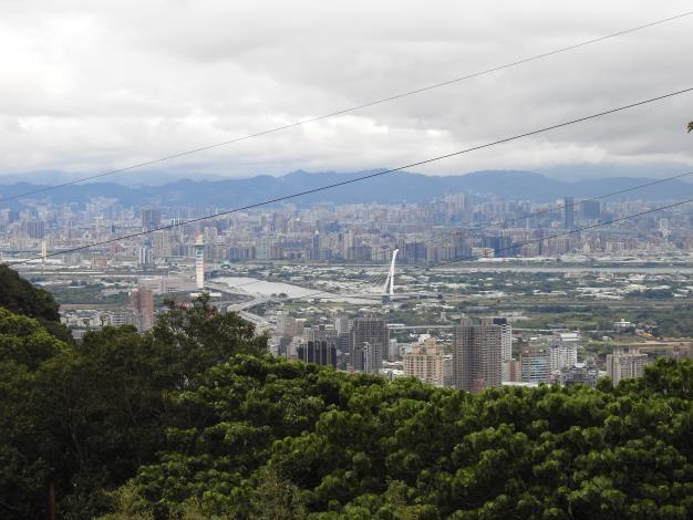 健走終點處眺望臺北市美景