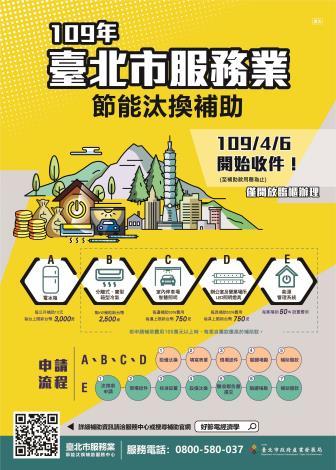 109年臺北市服務業節能汰換補助DM