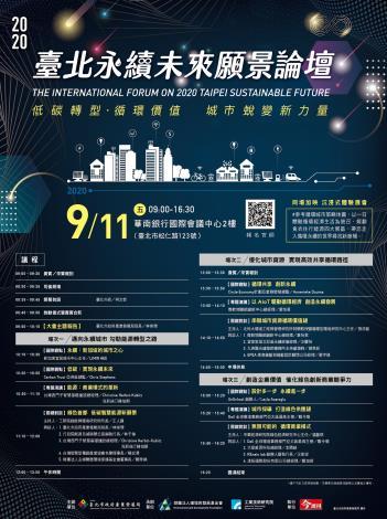 「2020臺北永續未來願景論壇」DM