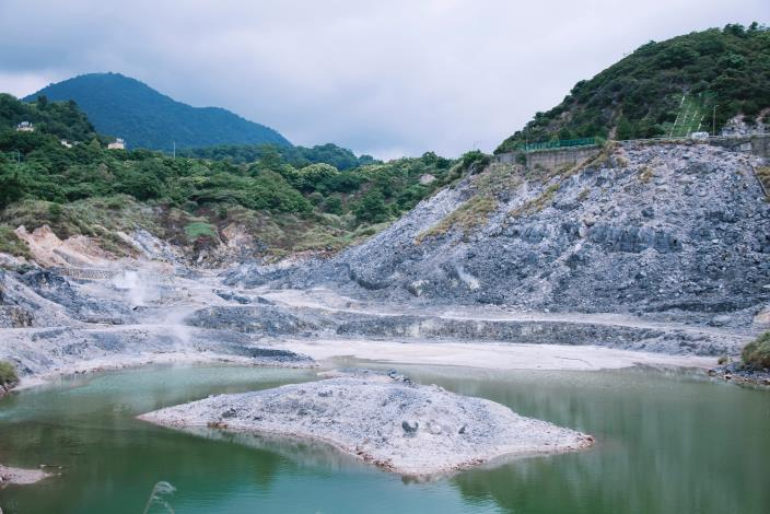 北投溫泉的露頭-硫磺谷