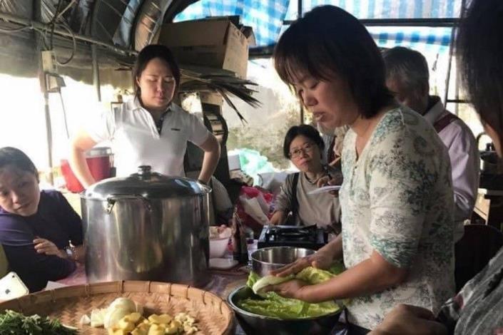 圖5. 陳心瑋講師-蔬菜加工製作上課照片