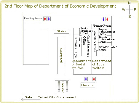 2nd Floor Map of Department of Economic Development