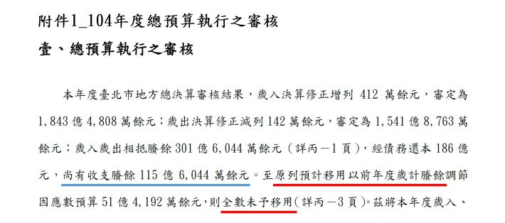 附件1_104年度總預算執行之審核[開啟新連結]