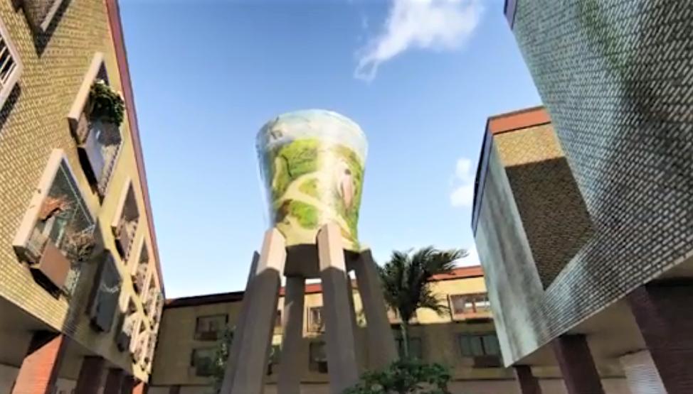 水塔重新彩繪模擬圖