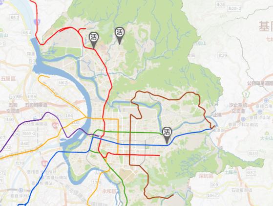 臺北市地圖-公地活化位置