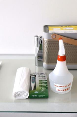 第6家防疫旅館提供之防疫用品