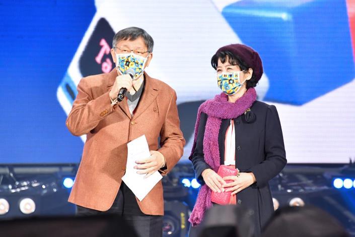 臺北市長柯文哲感謝市民過去一年與臺北共同面對挑戰,一起勇敢迎向2021。