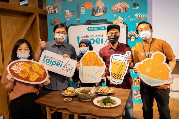 圖1.現場展示臺北市清真認證美食