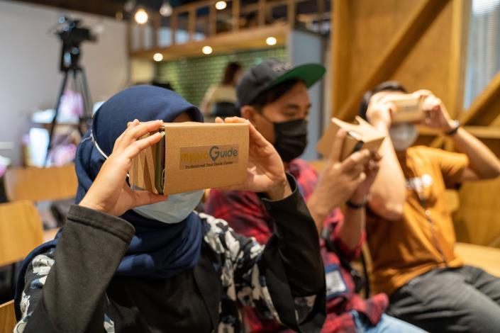 圖5.運用VR技術體驗「線上看臺北」的立體美景