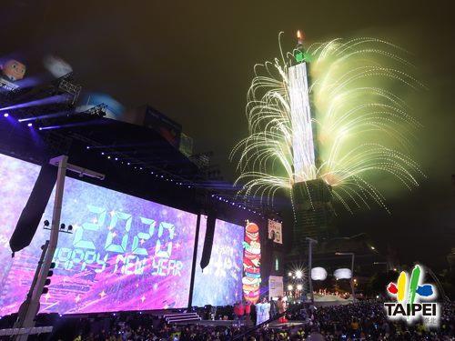 臺北最High新年城─2020跨年晚會101煙火7