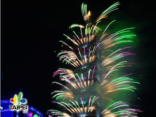 2021臺北最High新年城跨年晚會─101煙火02