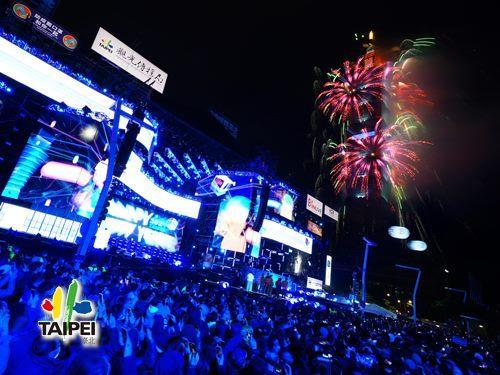 2021臺北最High新年城跨年晚會─101煙火04