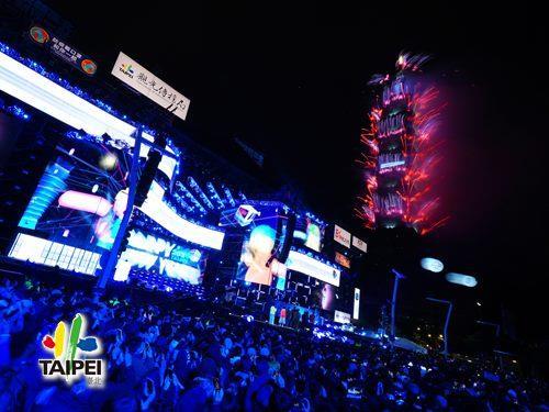 2021臺北最High新年城跨年晚會─101煙火08