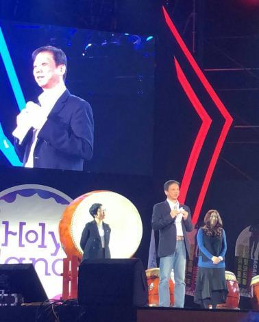 台北市政府資訊局李維斌局長(圖中)出席「Holyland電競節X校際電競公開賽」致詞。[開啟新連結]