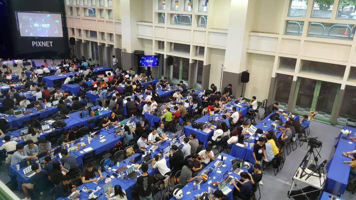 圖說:2018第五屆PIXNET HACKATHON活動比賽會場。