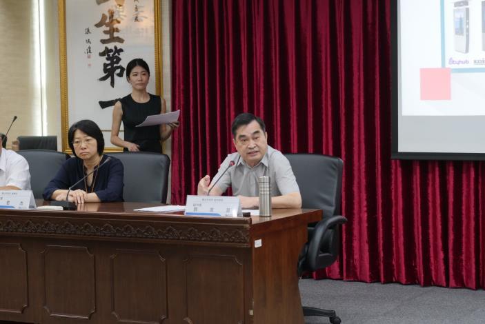 臺北市政府副市長鄧家基出席「Kiosk多媒體資訊站聯合發表記者會」致詞