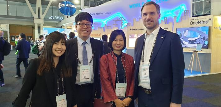 捷克布拉格市長與台北市政府資訊局主任秘書合影