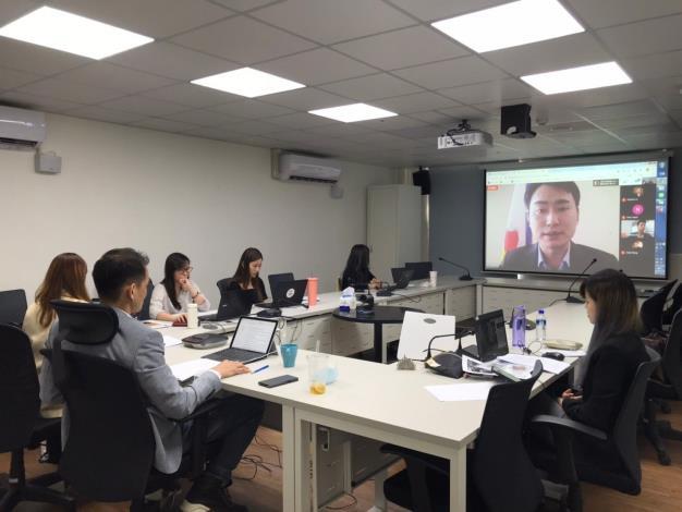 圖2:台北市政府副發言人陳冠廷分享北市府新冠肺炎科技防疫經驗