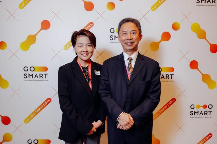 圖1:副市長黃珊珊及市長室涉外事務總監周台竹 一同參與2021 GO SMART Day記者會