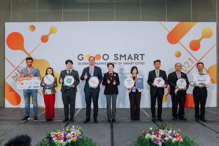 圖3: 2021 GO SMART Day記者會第一、二屆策略委員大合照