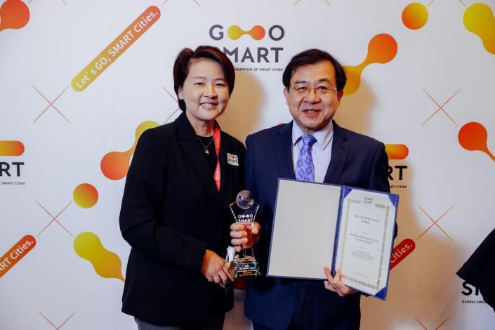 圖4:副市長黃珊珊頒發2021 GO SMART Award獎項