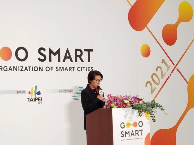 圖2: 2021 GO SMART Day記者會-副市長黃珊珊致詞