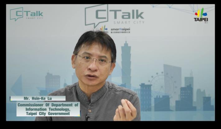 圖 3 :臺北市政府資訊局局長呂新科與各國城市貴賓進行座談討論